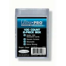 Ultra Pro 100 Count 2 Piece Clear Card Case [NEW] Ct Pc Protector Trading