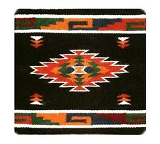 """Pillow Cover Southwest Western Home Decor 18x18"""" Black Wool / Canvas #1"""