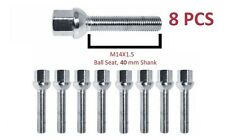 Extended Wheel Bolts M 14x1.5 40 mm Thread Radius ball seat for Volkswagen X8
