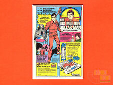 "Six Million Dollar Man action figure ad 2x3"" fridge/locker magnet vintage Kenner"