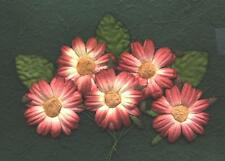 10 x 45mm WINE Paper DAISIES MP3D45:::Basket Craft Card Scrapbook Embellishments