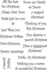 Personal Impressions ART STAMPS A6 Clear Stamp GRRREAT CHRISTMAS WORDS PICSA6126