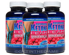 3X  Raspberry Ketone Lean Fat Burner Weight Loss 1200mg 180 Caps Best Keytones