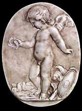 The Italian Renaissance Sculpture The Angel. Wall plaque. 55 cm.