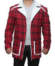 Deadpool Ryan Reynolds Red Shearling Fur Jacket Coat For Mens and Womens Costume