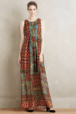 NWT Anthropologie Hemant Nandita Mathilde Silk Maxi Dress size Small Retail $278