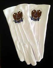Cotton Gloves with 32nd Degree Eagle Emblem (32-GLC)
