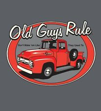 "OLD GUYS RULE "" RED TRUCK "" "" DON'T MAKE THEM LIKE THEY USED TO  V8 S/S SIZE  2X"