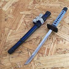 NEW! Blue Mini Japanese Samurai Sword Letter Opener Gift w/ Display Stand