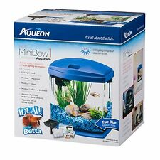 Aqueon Led Minibow Aquarium Kit Betta fish LED BLUE
