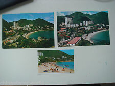 old China HK postcard,beautiful scenery of Repulse bay,3 pcs. in different shot