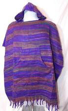 NEW FAIR TRADE HIPPY BOHO FESTIVAL ETHNIC FLEECE BLANKET PONCHO FROM NEPAL