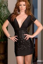 Multi Occasion Sexy Black Wrap Dress with Various Styles! (One Size) USA SELLER!