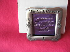 BOYS & GIRLS FIRST HOLY COMMUNION FILIGREE PEWTER PICTURE FRAME
