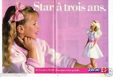 Publicité advertising 1986 (2 pages) Poupée Barbie de Mattel