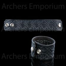 Dwarven Decoration Black Leather Cuff / Arm Band. Hobbit, LotR. Official, Weta.