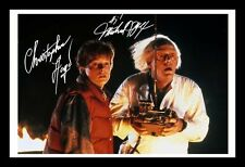 BACK TO THE FUTURE - MICHAEL J FOX & LLOYD SIGNED & FRAMED PP POSTER PHOTO