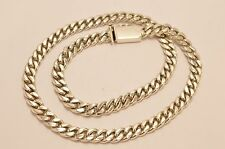 """Taxco, Mexican 925 Sterling Silver Curb Chain Necklace. 94 grams, 50cm, 20"""""""