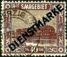 PAPER-GEMS old SAAR stamp used small fault