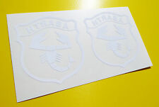 Fiat Abarth style logo stickers CUT WHITE INSIDE GLASS decals punto 500