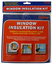 NEW 2 WINDOW INSULATION KIT SHRINK FIT DOUBLE GLAZING FILM DRAUGHT EXCLUDER COLD