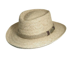 SCALA ** NEW RAFFIA GAMBLER HAT * MENS CRUSHABLE SHADY OUTBACK STRAW FEDORA GOLF