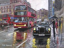 PETE RUMNEY FINE ART BUY ORIGINAL PAINTING CANVAS WALL PICTURE LONDON TAXI CAB