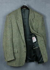 HARRIS TWEED Men's Thick 100% Wool Shell Blazer / Jacket [SIZE 44 or ~X LARGE*]