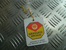 ancienne étiquette de vidange garage huile shell  déco garage