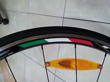 4x Italy Rim Wheel Stripe Stickers Flag Bicycle for 700c Profile 24,35,50,75