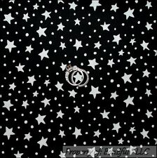 BonEful Fabric FQ Cotton Quilt Black White STAR Polka Dot Snow Xmas Harry Potter