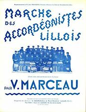 Partition - Victorien Marceau : MARCHE DES ACCORDEONISTES LILLOIS - Accordéon