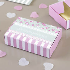 10 Frills & Spills Paper Party Cake Boxes Pink Wedding Afternoon Tea Party