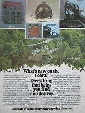 4/1980 PUB BELL AH-1S COBRA HELICOPTER HELMET SIGHT DOPPLER RADAR WARNING AD