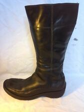 Timberland Black Mid Calf Leather Boots Size 9.5W