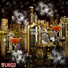 Party Champagne 8X8 FT CP PHOTO SCENIC BACKGROUND BACKDROP SU602