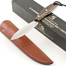 GROHMANN D.H. Russell Original Canadian BELT KNIFE New GR1 Rosewood Sheath