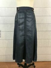 Modest Blue Jean Denim Skirt Womens 16 Long No Slits Ankle Length Flared