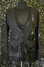 Naoto Seven h.NAOTO Double Layer Cardigan Butler Cosplay Goth Gothic Lace Sz M