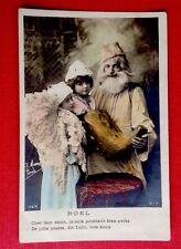 CPA. Années 1900. NOËL. Saint NICOLAS ? Enfant dans Sabot. Ange ? H. Manuel