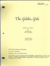 """THE GOLDEN GIRLS script """"Before and After"""""""