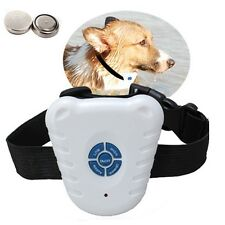 New White Ultrasonic Anti NO-Barking Pet Training Collars Dog Shock Bark Collar
