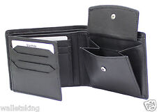 Starhide Men's Soft Cow Napa Leather Wallet With Coin Pocket & ID Window 1217