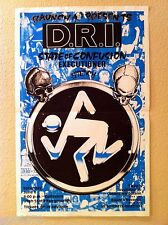 D.R.I. 1987 SLC SHOW POSTER / FLYER (folded) SIGNED dirty rotten imbeciles SCCRF