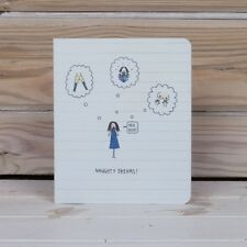 NAUGHTY DREAMS Notebook Jakki Doodles fun gift Scrapbook 12 x 14cm New