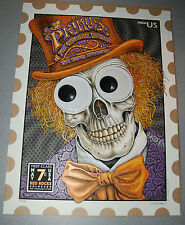 EMEK Primus Red Rocks Poster Signed Print Stamp Googly eyes willy wonka 3d 250