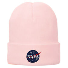 NASA Insignia Logo Embroidered Winter Cuff Folded Long Beanie