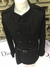 Rare & Great Dior Homme SS11 Partially Lined Belted Trench Coat Prototype
