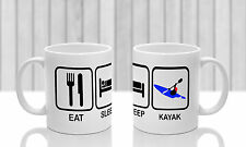 Kayak MUG and matching COASTER. Ideal gift for kayaker.