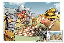 Spain 2015 - Don Quijote playing chess maxicard